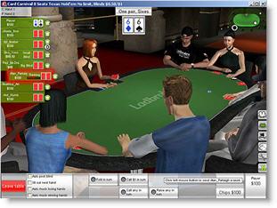 Ladbrokes Poker 3D bord