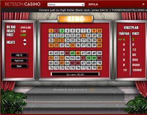 Keno på Betsson Casino