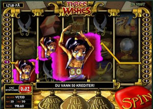 Three Wishes - enarmad bandit med 3D-grafik