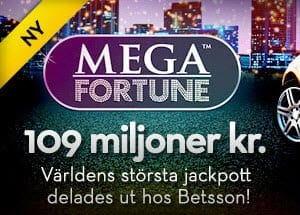 Rekordvinst på jackpotten i slotten Mega Fortune