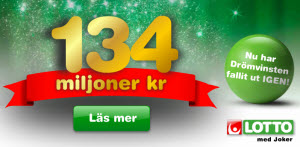 Sokes vinnaren av 134 miljoner kronor