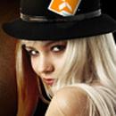 snygg tjej i hatt