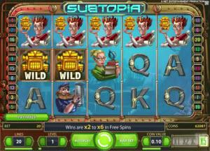Få 20 free spins på Subtopia och 150% bonus hos Bet24