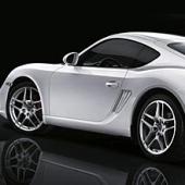 silverfärgad Porsche