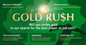 PAF gold rush 2014