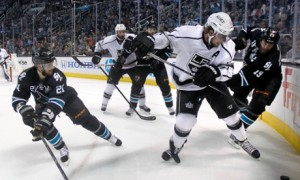 Anze Kopitar, Joe Thornton, T.J. Galiardi