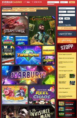 SverigeCasino - nytt svenskt nätcasino med fokus på spelansvar och trygghet