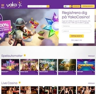 Yako Casino spelaspel