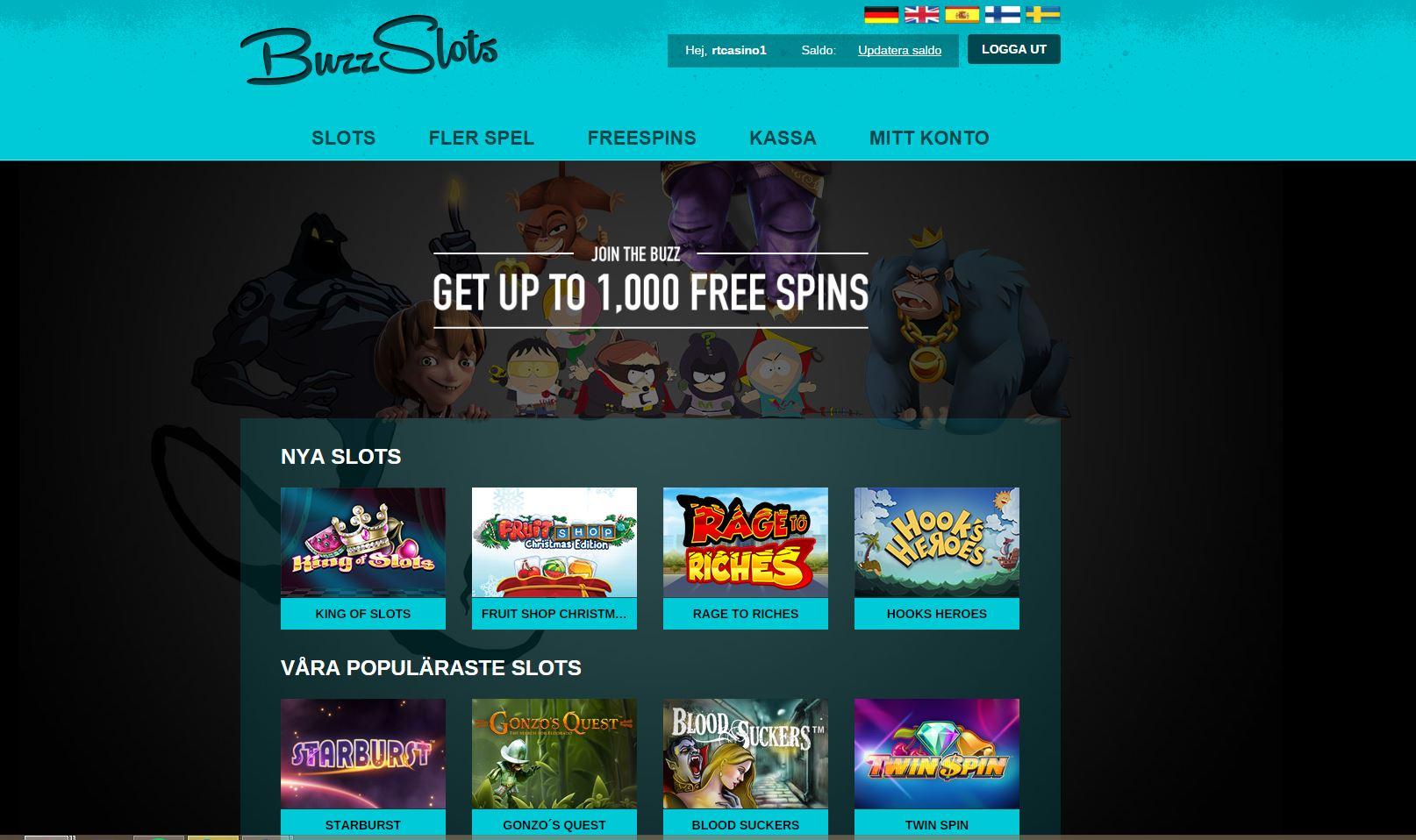 BuzzSlots - ett innovativt casino med mängder av freespins