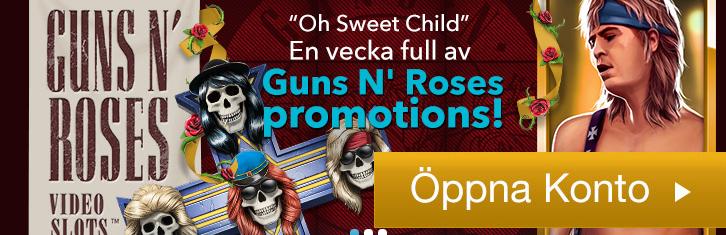 50 free spins hos KarlCasino på Guns n Roses