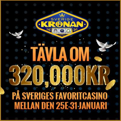 Vinn en del av 350 000 kr hos SverigeKronan