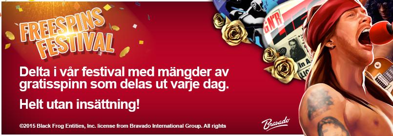 Få gratis free spins hos SverigeCasino