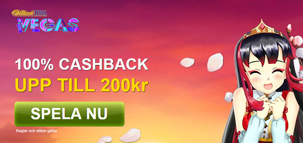 Cash back hos William Hill