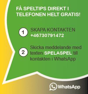 Speltips på Whatsapp