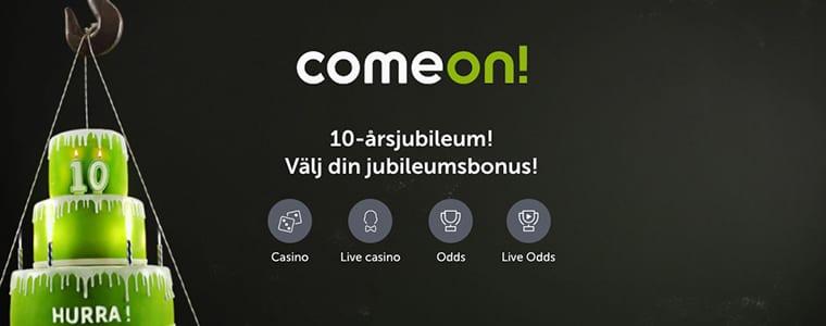 ComeOn 10 års erbjudande