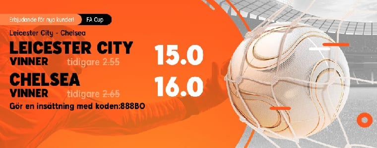 Oddsboost 888Sport FA-Cup Leicester - Chelsea