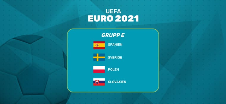 odds online grupp e fotbolls em 2021